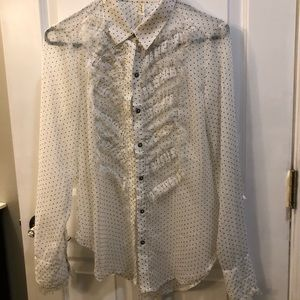 Free People button down chiffon blouse